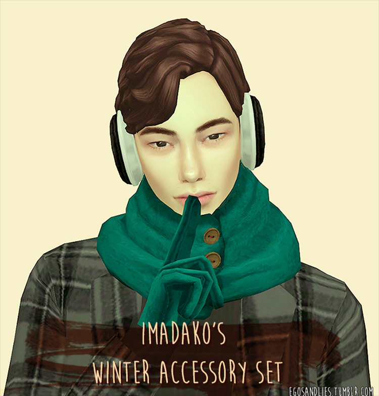Imadako's Winter Accessory Set Sims 4