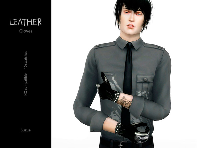 Leather Gloves Sims 4 CC