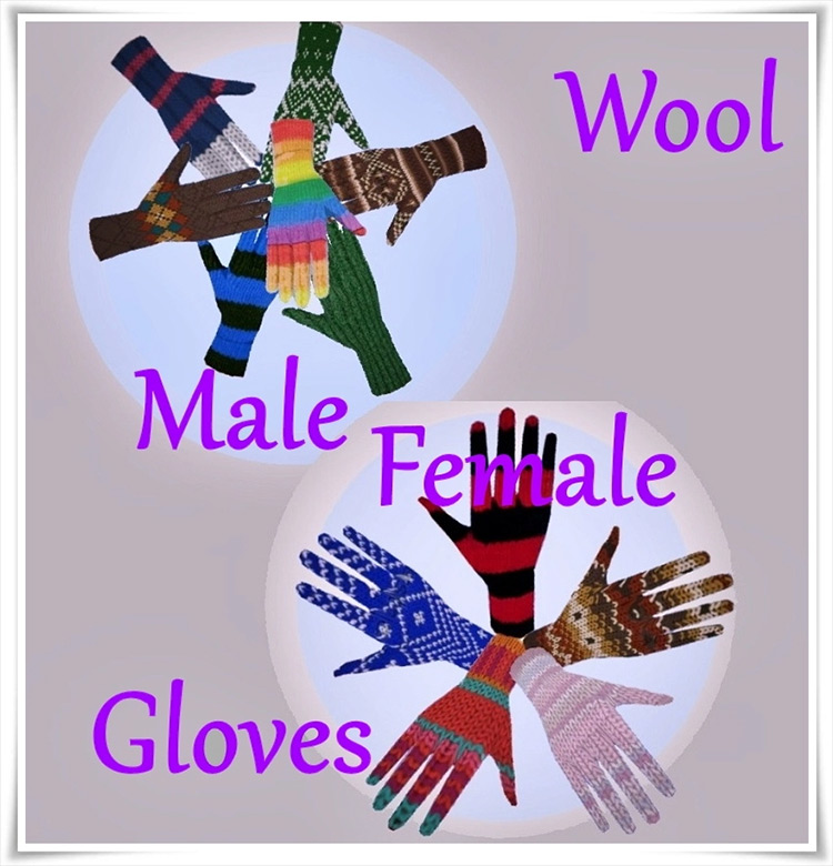 Wool Gloves CC for Sims 4