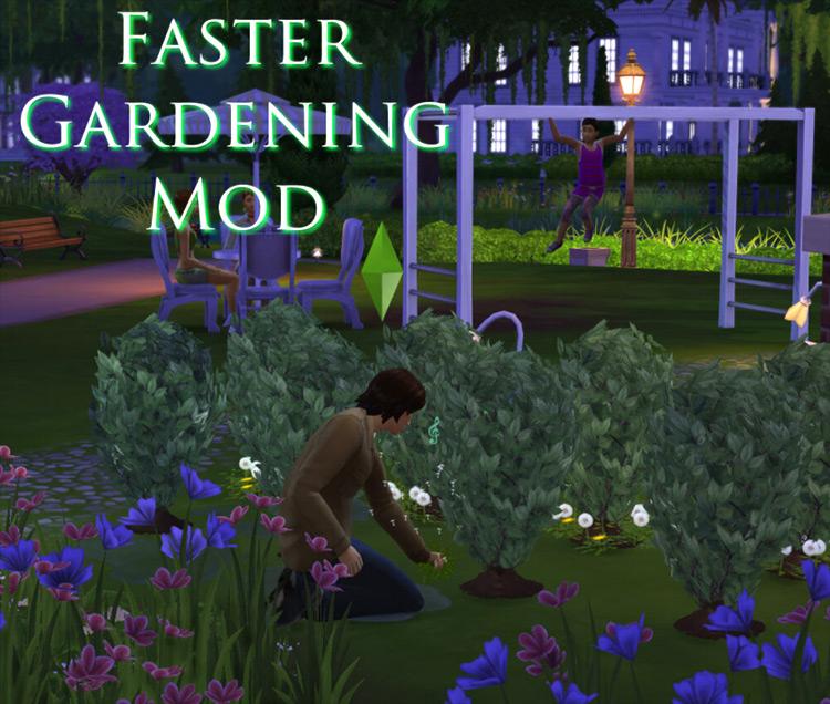 Faster Gardening Mod Sims 4