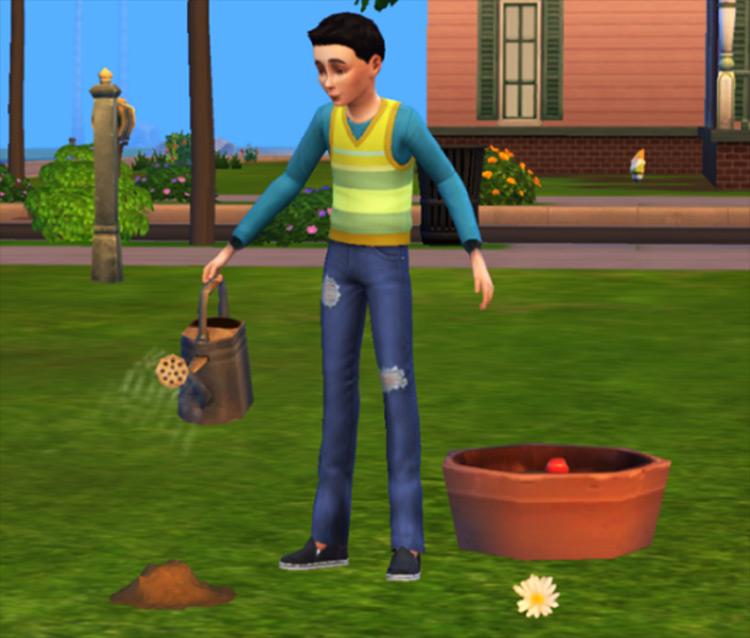 Kids Can Garden Mod Sims 4 screenshot