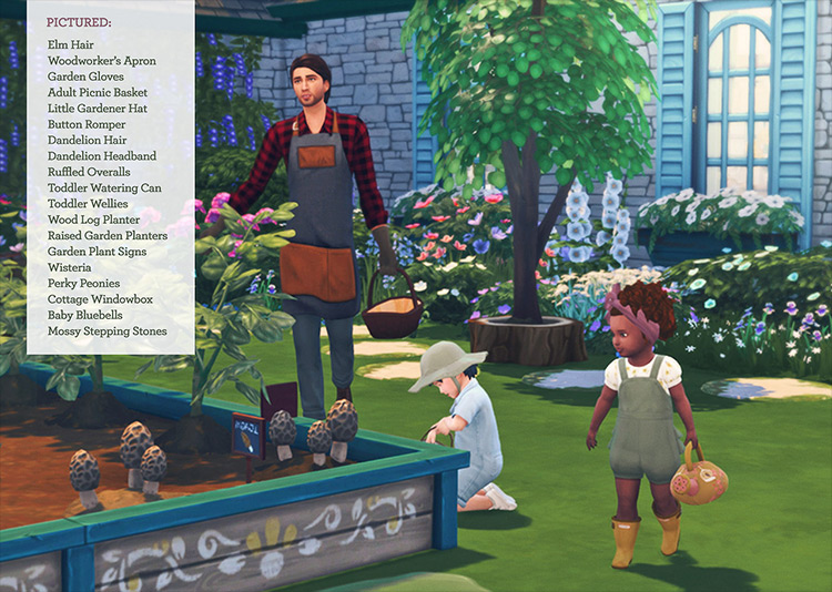Cottage Garden Stuff CC for Sims 4