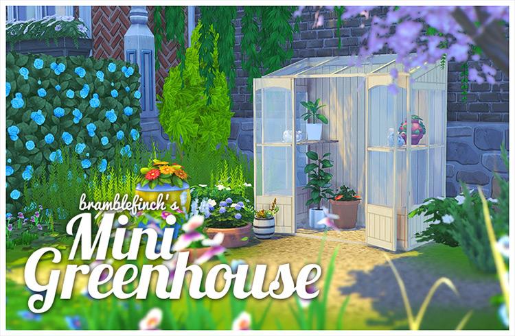 Mini Greenhouse CC for Sims 4