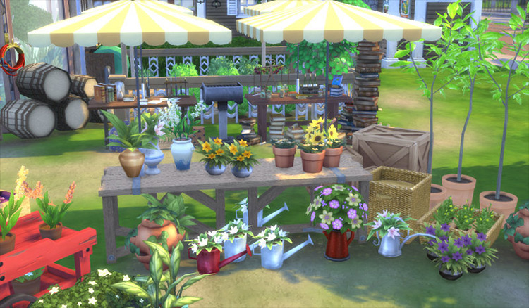 Greenhouse Set Part 2 and Part 3 Sims 4 CC