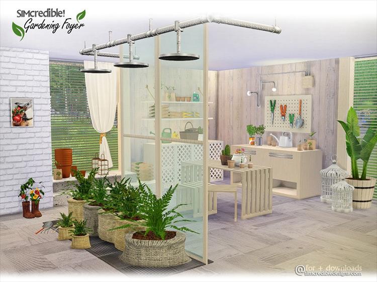 Gardening Foyer Sims 4 CC screenshot