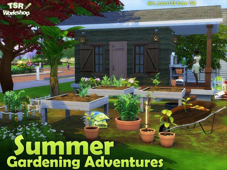 Summer Gardening Adventures Sims 4 CC