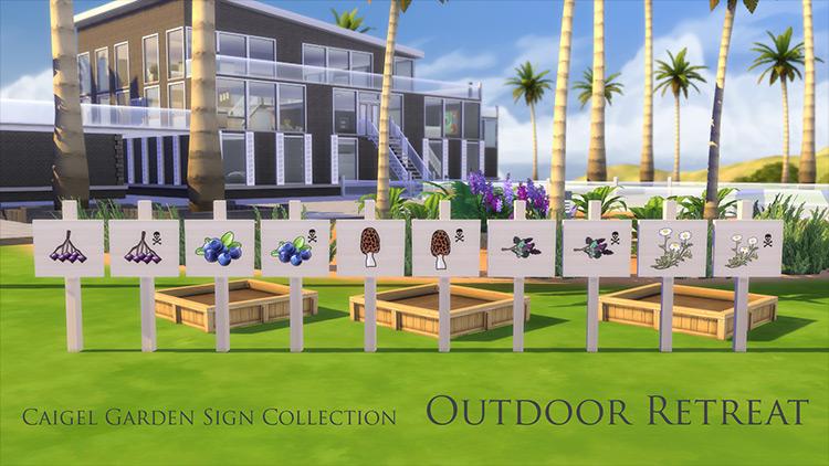 Garden Sign Collection for Sims 4