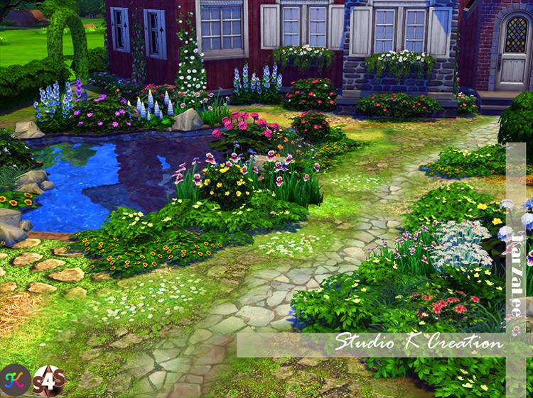 Mega Garden Terrain Set 2 Sims 4 CC