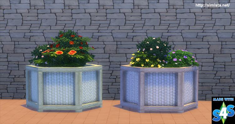 Bamboo Planter Box Sims 4 CC
