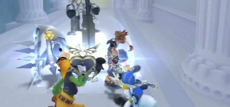 Sora in TWTNW fighting Assassin Nobody / KH 2.5