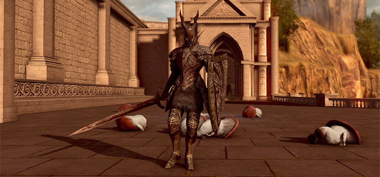 Silver Knight Set + Shield in DS Remastered