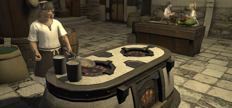 Culinarian Cooking with Control in FFXIV