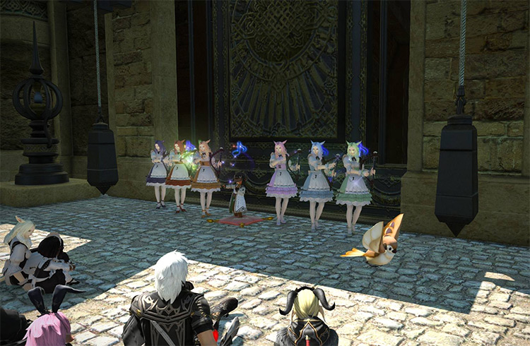 Mammet Musical Group singing outside / FFXIV HD Screenshot