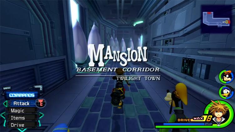 Twilight Town Mansion Basement Corridor Area / KH 2.5 HD