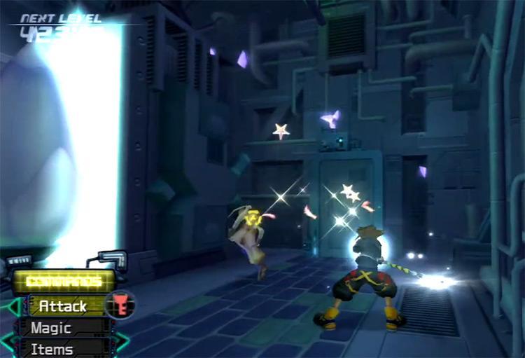 Sora battling a Dancer Nobody in Twilight Town Basement / KH 2.5 HD