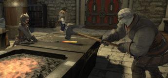 Blacksmiths Crafting in Final Fantasy XIV