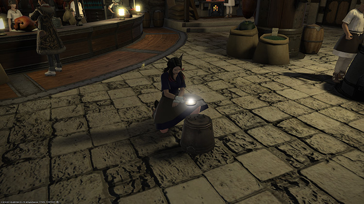 Character crafting with Waste Not / FFXIV HD Screenshot