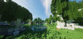 Round Trees Texture Pack Preview (Minecraft)