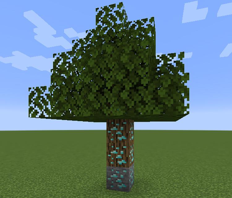 Ore Tree mod for Minecraft