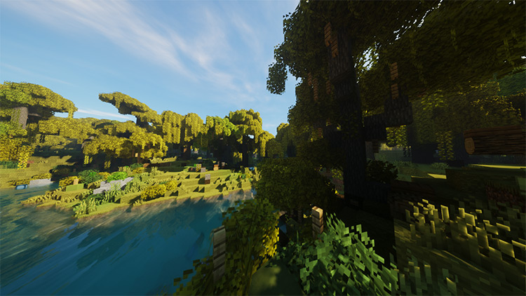 Round Trees mod for Minecraft