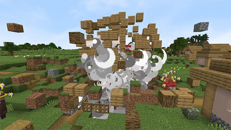 Realistic Explosion Physics mod for Minecraft