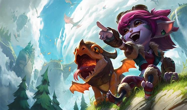 Dragon Trainer Tristana Splash Art / LoL