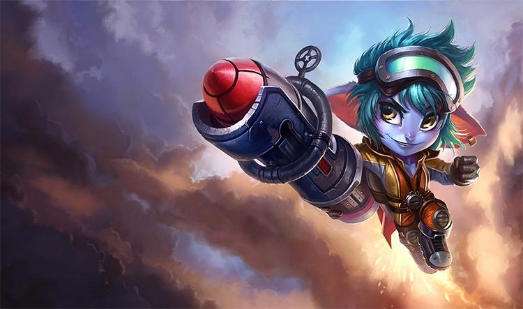 Rocket Girl Tristana Splash Art / LoL