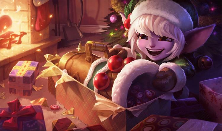Earnest Elf Tristana Splash Art / LoL