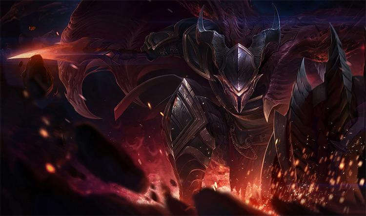 Dragonslayer Pantheon Skin Splash / LoL