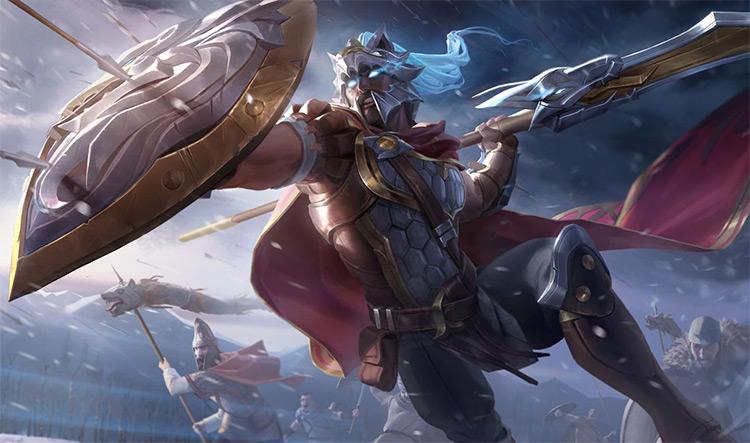Glaive Warrior Pantheon Skin Splash / LoL