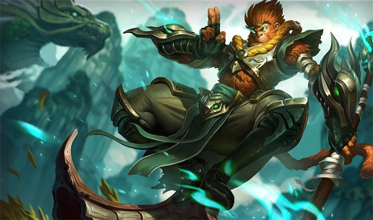 Jade Dragon Wukong Splash Art / LoL
