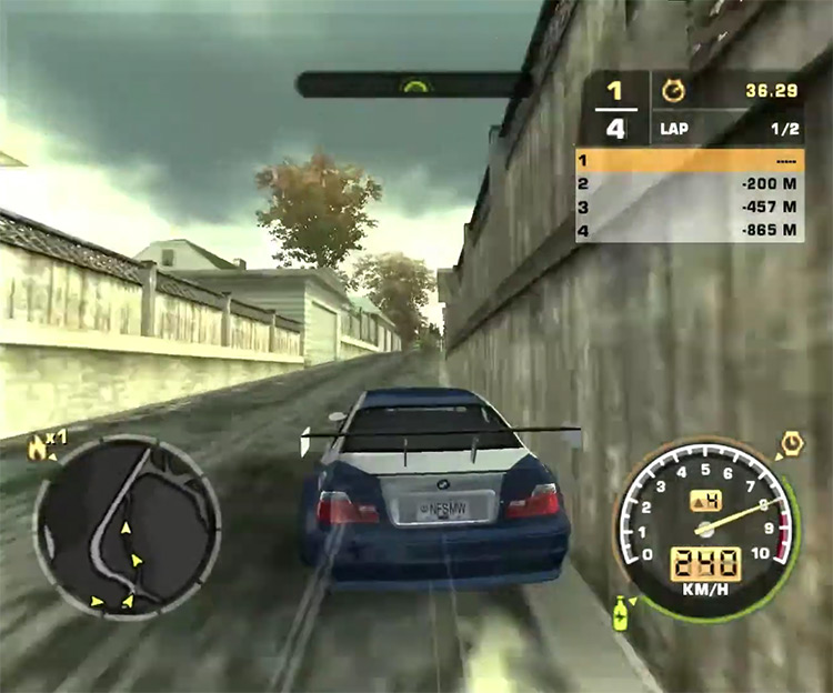 Need for Speed: Most Wanted gameplay screenshot