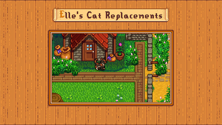 Elle's Cat Replacements Mod for Stardew Valley