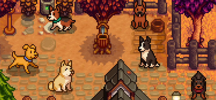 Elles Dog Breeds Mod Preview (Stardew Valley)