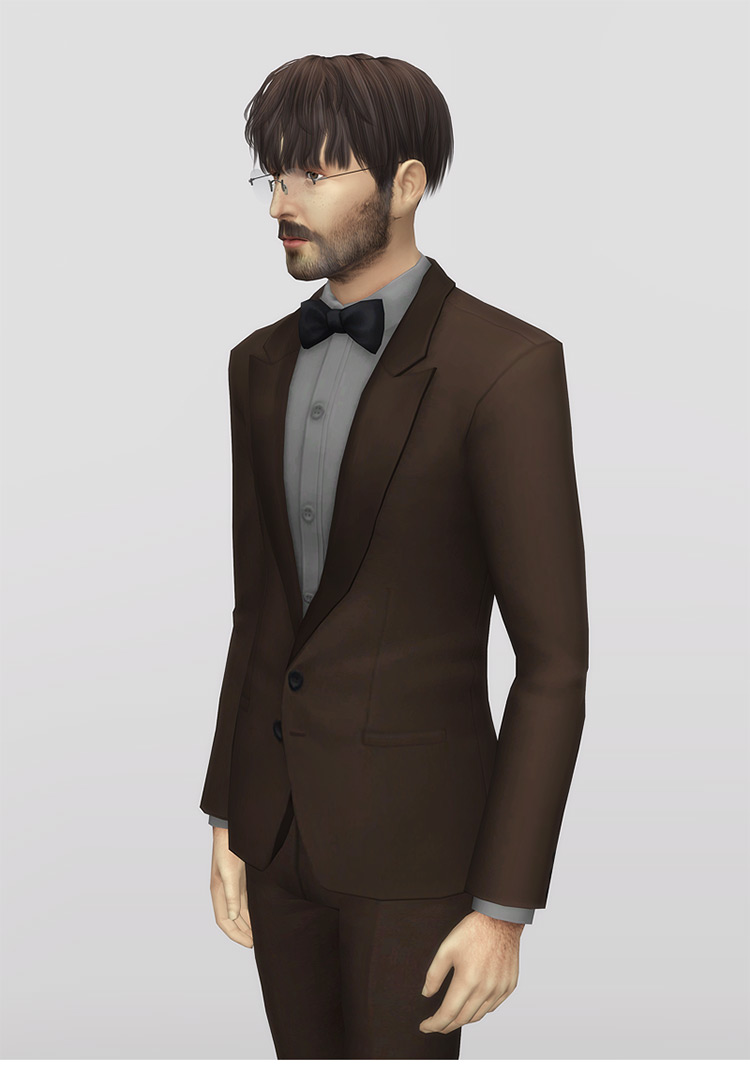 Bow-Tie For Men by rustysims for The Sims 4