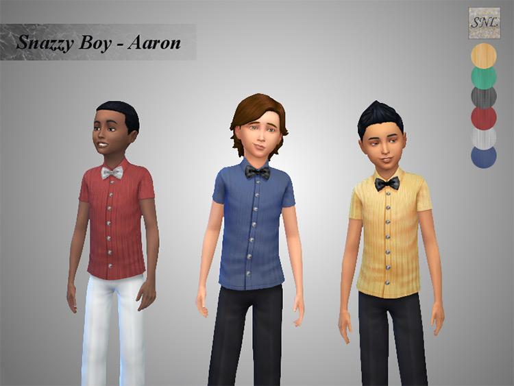 Snazzy Boy Aaron Bowtie / Sims 4 CC