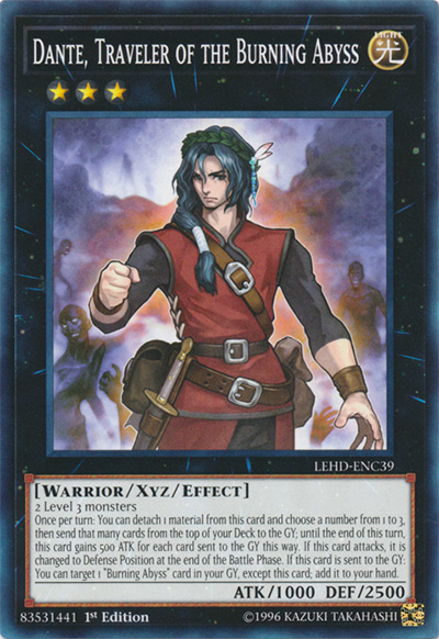 Dante, Traveler of the Burning Abyss YGO Card
