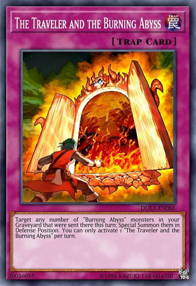 The Traveler and the Burning Abyss Yu-Gi-Oh Card
