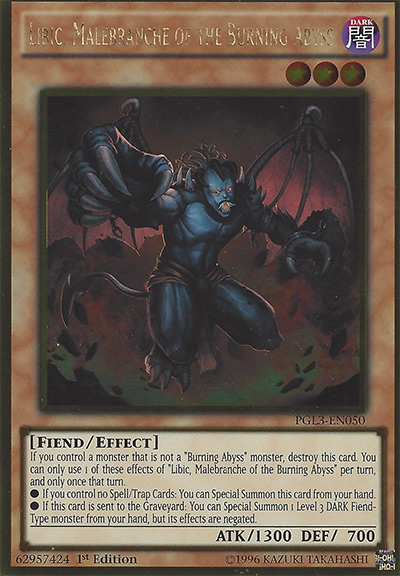 Libic, Malebranche of the Burning Abyss Yu-Gi-Oh Card