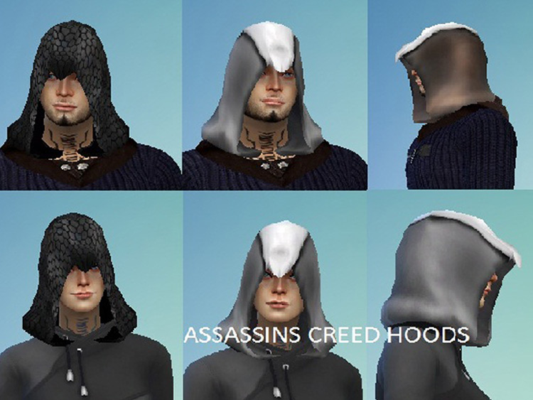Assassin Hood CAS / Sims 4 CC