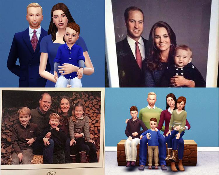 Duke & Duchess of Cambridge Family Portraits by WhitmoreRoyalsCC Sims 4 CC