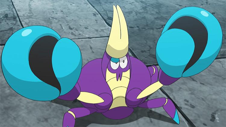 Crabrawler from Pokemon anime screenshot