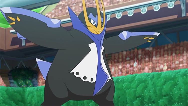 Empoleon from Pokemon anime screenshot