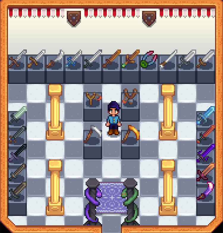 Weapons on Display Mod for Stardew Valley