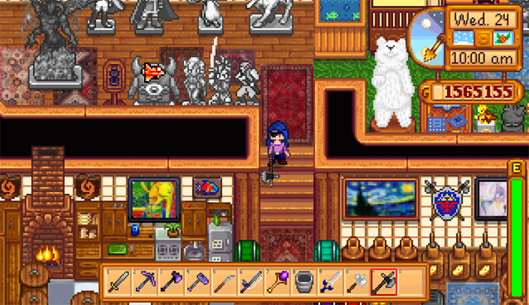 Fluffykins Weapons Mod for Stardew Valley