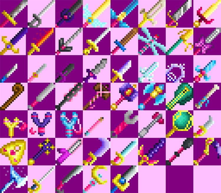 Magical Girl Weapons Mod for Stardew Valley