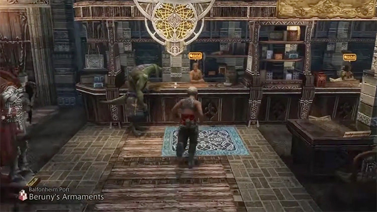 Balfonheim Port Shop in Final Fantasy XII: The Zodiac Age screenshot