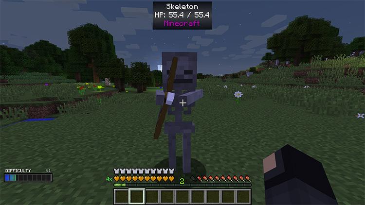 Scaling Health Minecraft mod screenshot