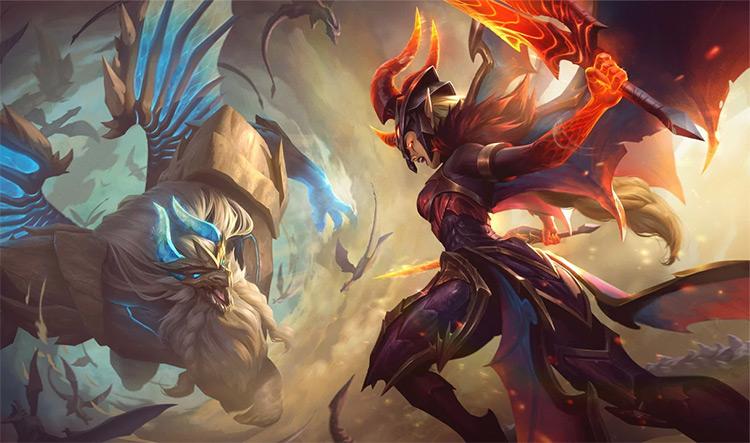 Dragonslayer Kayle Splash Art / LoL