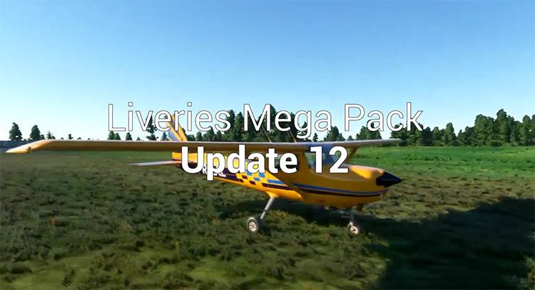 Best of Liveries Mega Pack mod for Microsoft Flight Simulator